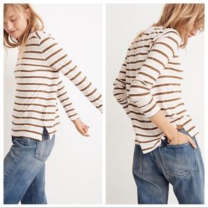 Madewell Long sleeve Crewneck Tee Myers Stripe M